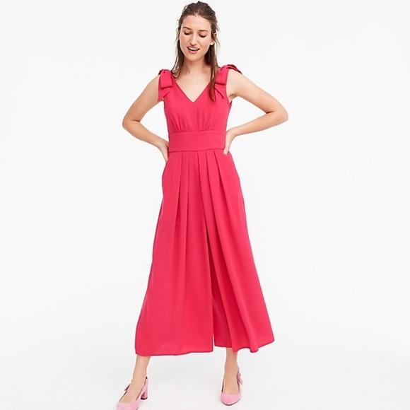f34fd445a26 NWT Jcrew pink jumpsuit pocket bow size 4